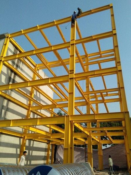 Thiết kế thi công nhà thép tiền chế 2 tầng