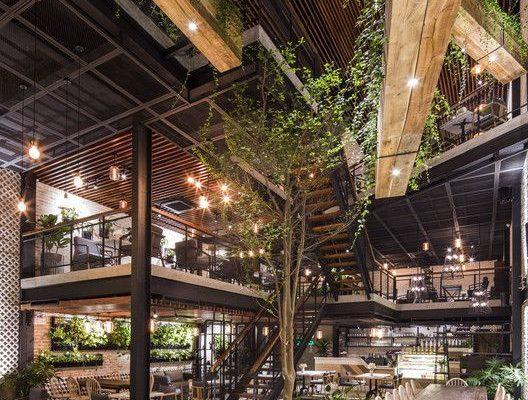 thiêt kế xây dựng quán cafe thép tiền chế đẹp, nhà thép tiền chế đẹp giá rẻ