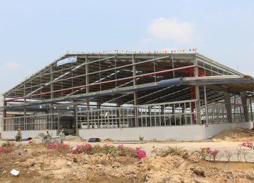 Thiết kế nhà xưởng kết hợp pin nlmt giá 250k/m2