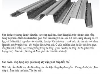 Sàn deck: Ứng dụng hiệu quả trong xây dựng nhà thép tiền chế