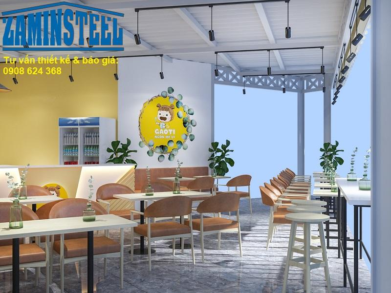 Zamin Steel - Công ty thi công trọn gói quán cafe thép tiền chế