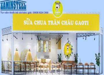 Quán cafe đẹp tiết kiệm với thi công thiết kế nhà khung sắt