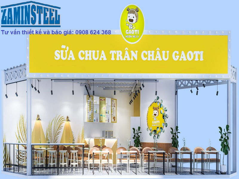 Thiết kế nhà khung sắt quán cafe - Xu hướng thiết kế hiện đại hiện nay